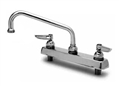T&S Brass - B-1122 - Workboard Faucet, Deck Mount, 8-inch Centers, 10-inch Swing Nozzle, Lever Handles