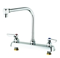 T&S Brass - B-1148 - Workboard Faucet, Deck Mount, 8-inch Centers, Swing Gooseneck with Aerator, Lever Handles