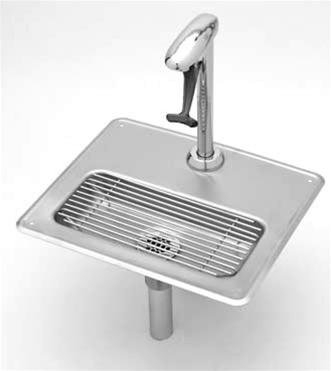 tu0026s brass b1230 glass filler water station pedestal glass filler and - Ts Brass