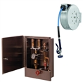 T&S Brass - B-2339 - Hose Reel Assembly, 35' Closed Hose Reel, Cabinet w/Control Valve and Temperature Gauge