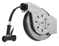 T&S Brass - B-7132-02 - Hose Reel, Open, Stainless Steel, 35'Hose, 3/8-inch ID with Rear Trigger Water Gun
