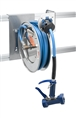 T&S Brass - B-7132-05 - Hose Reel, Open, Stainless Steel, 35'Hose, 3/8-inch ID with Front Trigger Water Gun