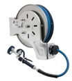 T&S Brass - B-7142-01 - Hose Reel, Open, Stainless Steel, 50'Hose, 3/8-inch ID with Spray Valve