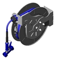 T&S Brass - B-7142-02 - Hose Reel, Open, Stainless Steel, 50'Hose, 3/8-inch ID with Rear Trigger Water Gun