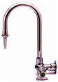T&S Brass - BL-5710-01 - Lab Faucet, Single Temperature, Wall Mount, Rigid Gooseneck, Serrated Tip, 4-Arm Handle
