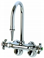 T&S Brass BL-5740-01 - Wall mounted laboratory sink mixing faucet with adjustable arms and serrated hose tip