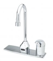 T&S Brass - EC-3100-SM - ChekPoint EC-3100 Faucet with Side Mount Control Mixer, Deck Plate and Check Valves