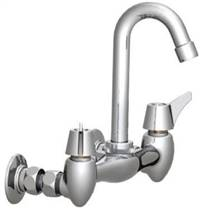 Union Brass® - 27A Wall Mounted Faucet - Small, Swivel Gooseneck, Less Soapdish