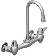 Union Brass® - 29A Wall Mounted Faucet - Large, Swivel Gooseneck, Less Soapdish