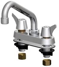Union Brass® - 347S-A - Metal Handles, 6-Inch Tube Spout, Aerator
