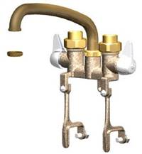 Union Brass® - 542 - 8-Inch Tube Spout, W/Bracket Clamps