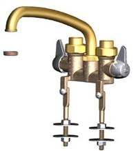 Union Brass® - 544 - 8-Inch Tube Spout, W/Threaded Legs