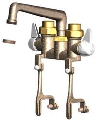 Union Brass® - 742 - 6-Inch Cast Spout, W/Bracket Clamps