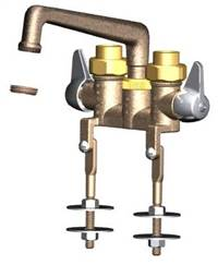 Union Brass® - 744 - 6-Inch Cast Spout, W/Threaded Legs