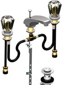 Union Brass® - 911 - 1/4 Turn Valves, Large Acrylic Hdls, W/Pop-Up