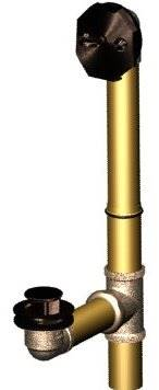 Union Brass® - 966-8 - Antique Brass Lift-n-Turn Bath Drain Assembly