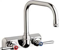 "Chicago Faucets W4W-DB6AE1-369ABCP - 4"" Wall Mount Washboard Sink Faucet"