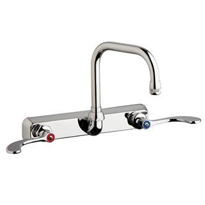 "Chicago Faucets W8W-DB6AE1-317ABCP - 8"" Wall Mount Washboard Sink Faucet"