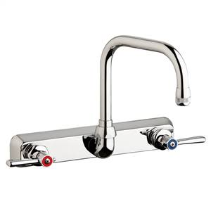 "Chicago Faucets W8W-DB6AE1-369ABCP - 8"" Wall Mount Washboard Sink Faucet"