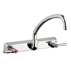 "Chicago Faucets W8W-L9E35-369ABCP - 8"" Wall Mount Washboard Sink Faucet"