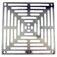 "Watts L8PG 1 Nickel Bronze Grate for L8 1 Drain 7 1/2"" Outside Measurement."